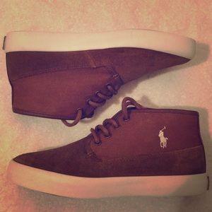 Ralph Lauren Polo brown suede kids 5.0 shoes